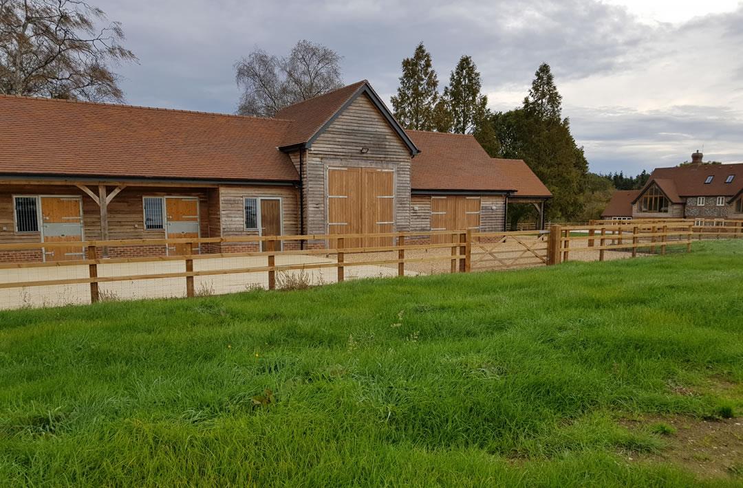 Property barn refurbishment and landscaping