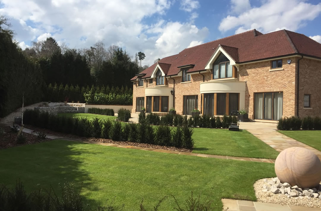 Professional landscaping for new build properties